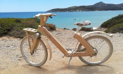 Join us for a wooden bike ride at Oliaros seaside lodge